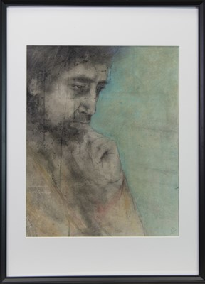 Lot 42 - REFLECTION, A MIXED MEDIA BY ROS GREEN
