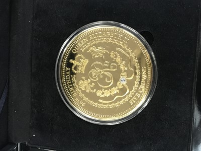 Lot 51 - A COLLECTION OF GOLD PLATED COMMEMORATIVE COINS
