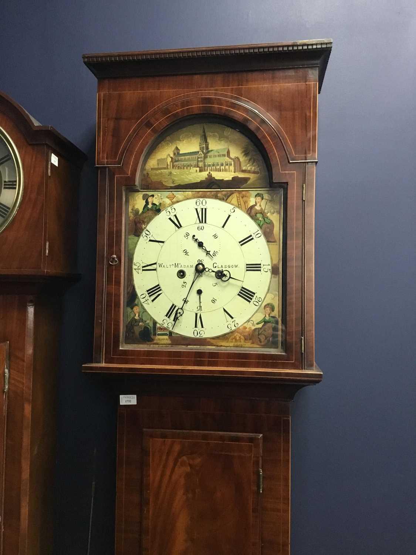 Lot 1732 - GLASGOW INTEREST - A 19TH CENTURY MAHOGANY LONGCASE CLOCK