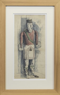 Lot 128 - THE DUKE OF ARGYLL, A WATERCOLOUR BY TOM SHANKS