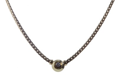 Lot 417 - A DIAMOND SET NECKLET