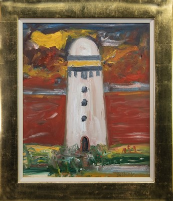 Lot 213 - TO THE LIGHTHOUSE, AN OIL BY JOHN BELLANY