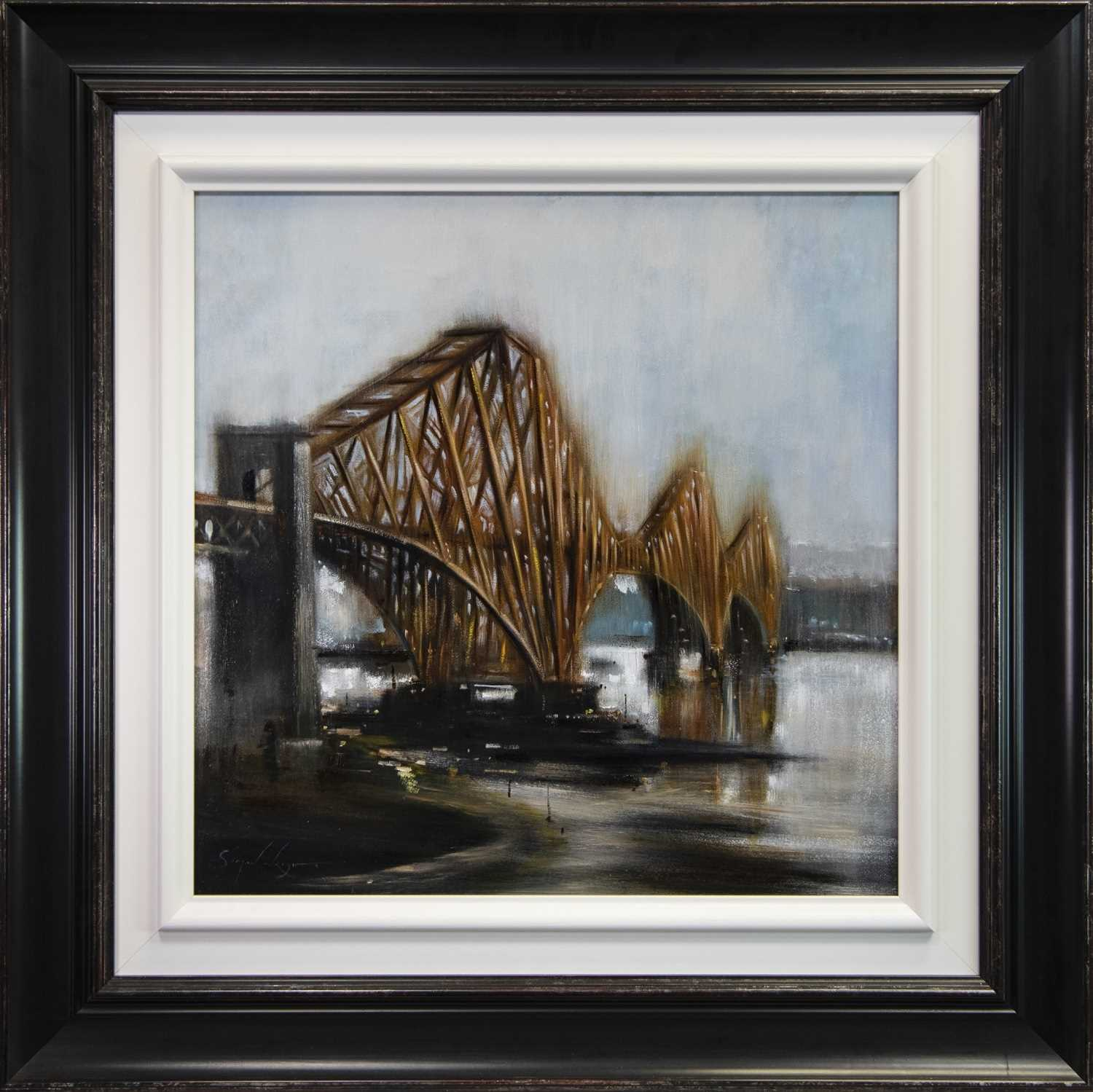 Lot 118 - PRIDE OF THE FORTH, AN OIL BY SIMON WRIGHT