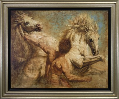 Lot 106 - THE HORSE TAMER, A PRINT
