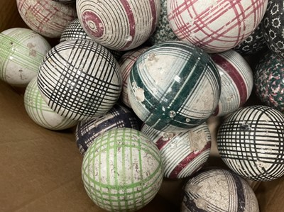 Lot 1049 - A GROUP OF VICTORIAN SCOTTISH POTTERY CARPET BOWLS