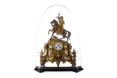 Lot 1701 - AN IMPRESSIVE LATE 19TH CENTURY FRENCH FIGURAL MANTEL CLOCK