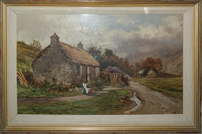 Lot 6 - A HIGHLAND COTTAGE, LOCHABER, AN OIL BY JAMES ALFRED AITKEN