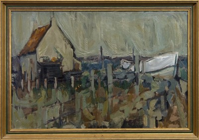 Lot 65 - SEAFARE COTTAGE, AN OIL BY HELEN FIRTH