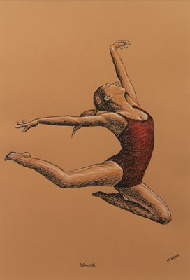Lot 26 - DANCER, A MIXED MEDIA BY GRAHAM MCKEAN