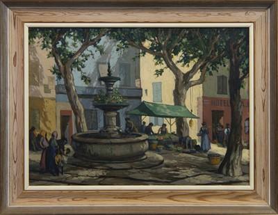 Lot 48 - MEDITERRANEAN STREET SCENE, A FRENCH OIL