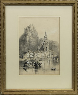 Lot 60 - DINANT, A WATERCOLOUR ATTRIBUTED TO ADOLF ZIEGLER
