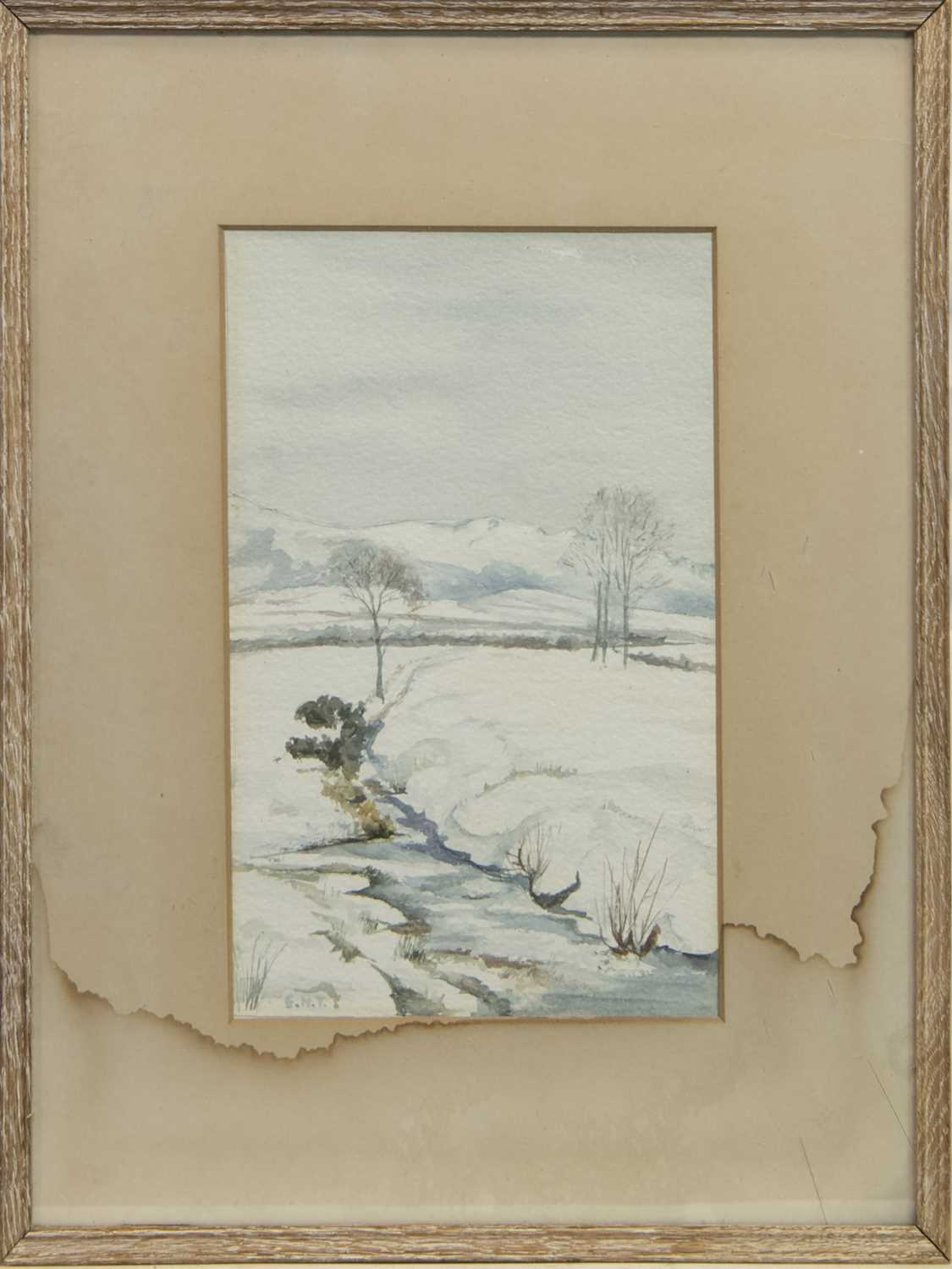 Lot 63 - STEAM AT CARTMEL, A WATERCOLOUR BY EDWARD HORRACE THOMPSON