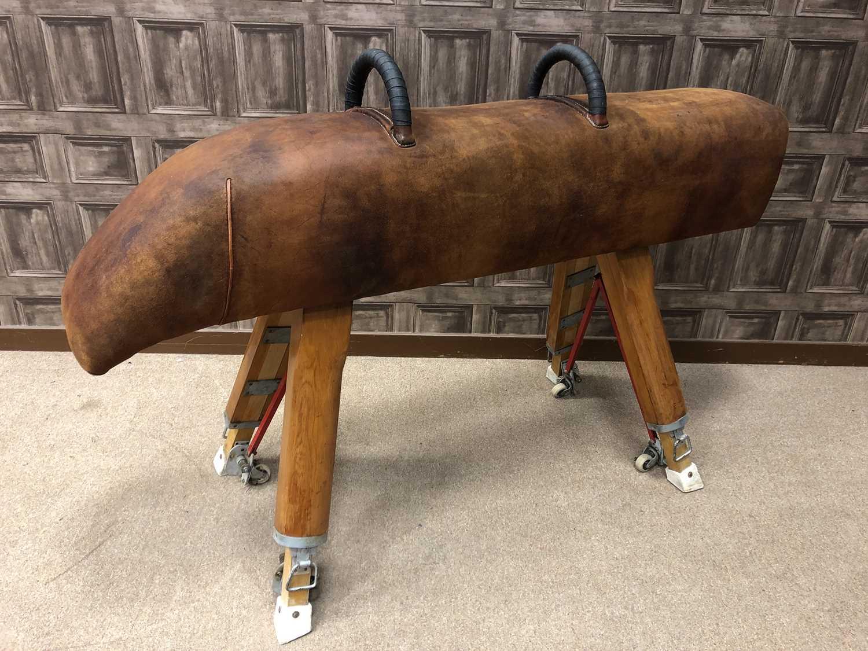 Lot 1637 - A 1970s POMMEL HORSE