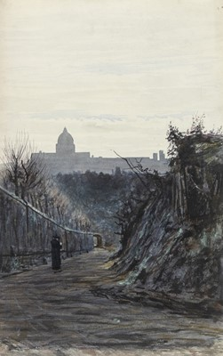 Lot 24 - ACRO SCURE, ROME, A WATERCOLOUR BY GEORGE SHERWOOD HUNTER