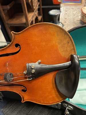 Lot 1706 - A LATE 19TH CENTURY VIOLIN FROM MIRECOURT, FRANCE