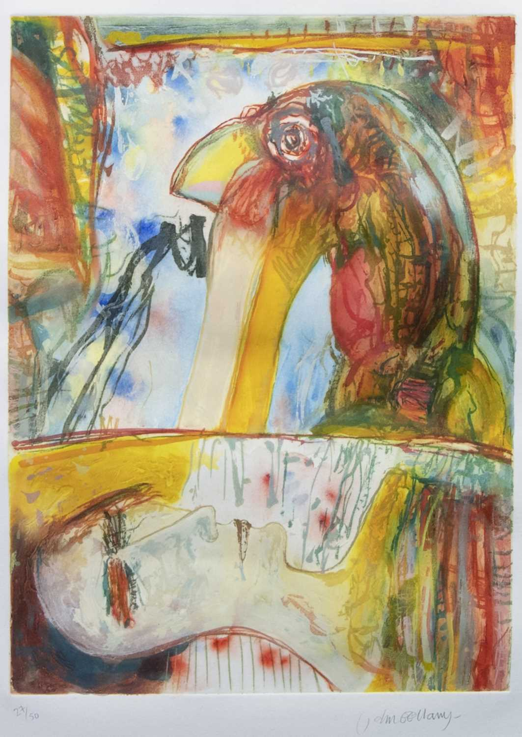 Lot 3 - THE FRIGHT, AN ETCHING BY JOHN BELLANY