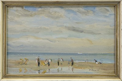 Lot 15 - BEACH, EDINBURGH, AN OIL BY T G MCGILL DUNCAN