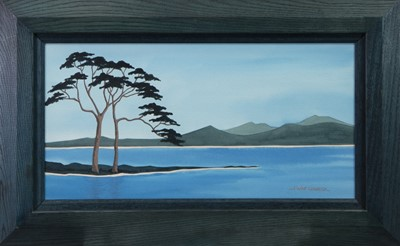 Lot 36 - SWEEPING PINES, A GOUACHE BY JENNY WATT-COLBECK