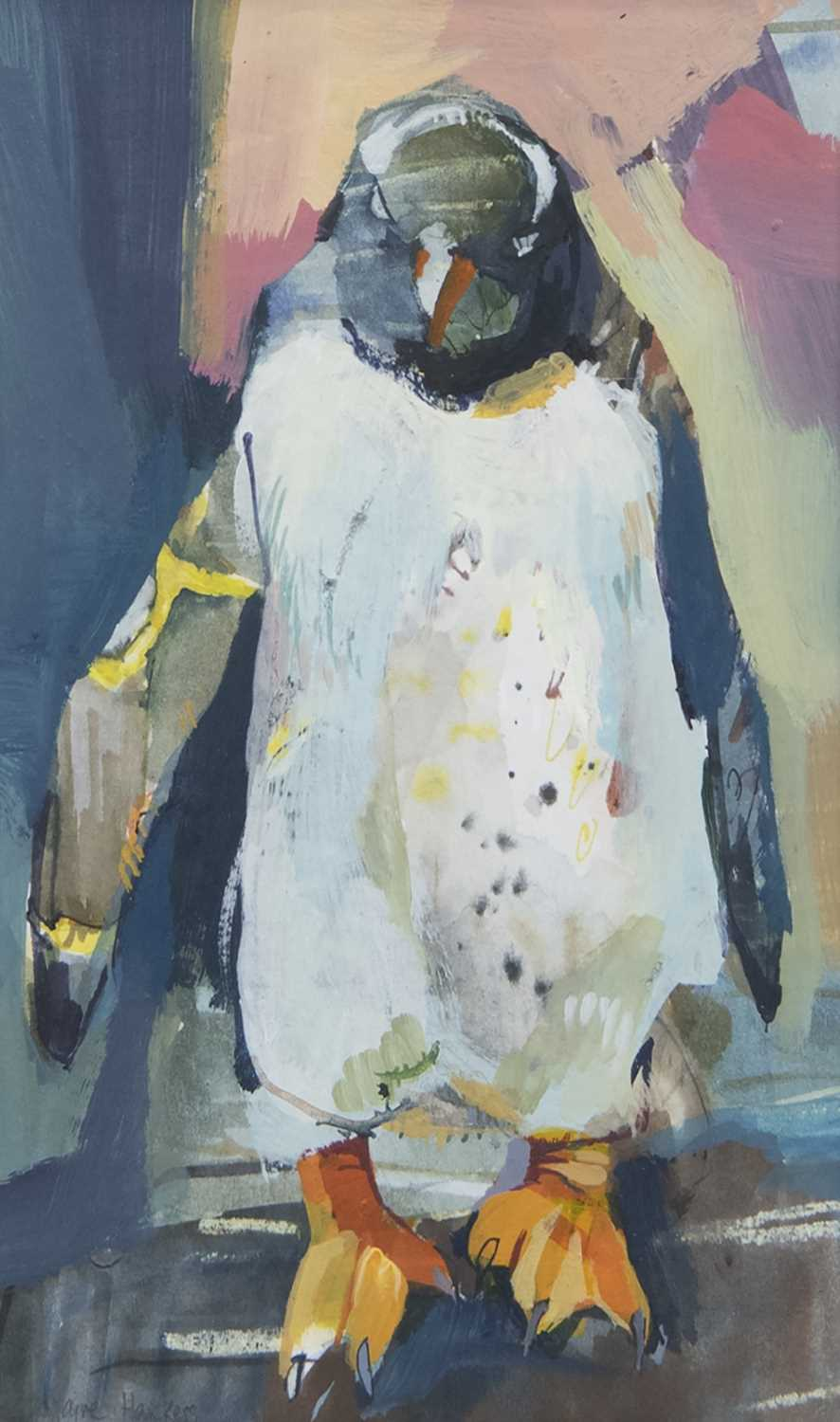 Lot 127 - WEE PENGUIN, A GOUACHE BY CLAIRE HARKESS