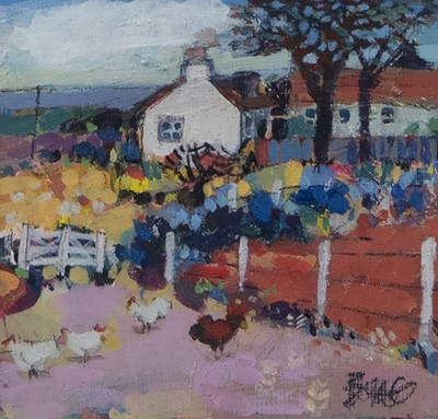 Lot 56 - HILLHEAD ON FRIDAY, AN ACRYLIC BY FRANCIS BOAG