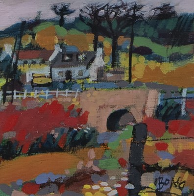 Lot 130 - BRIDGE, AN ACRYLIC BY FRANCIS BOAG