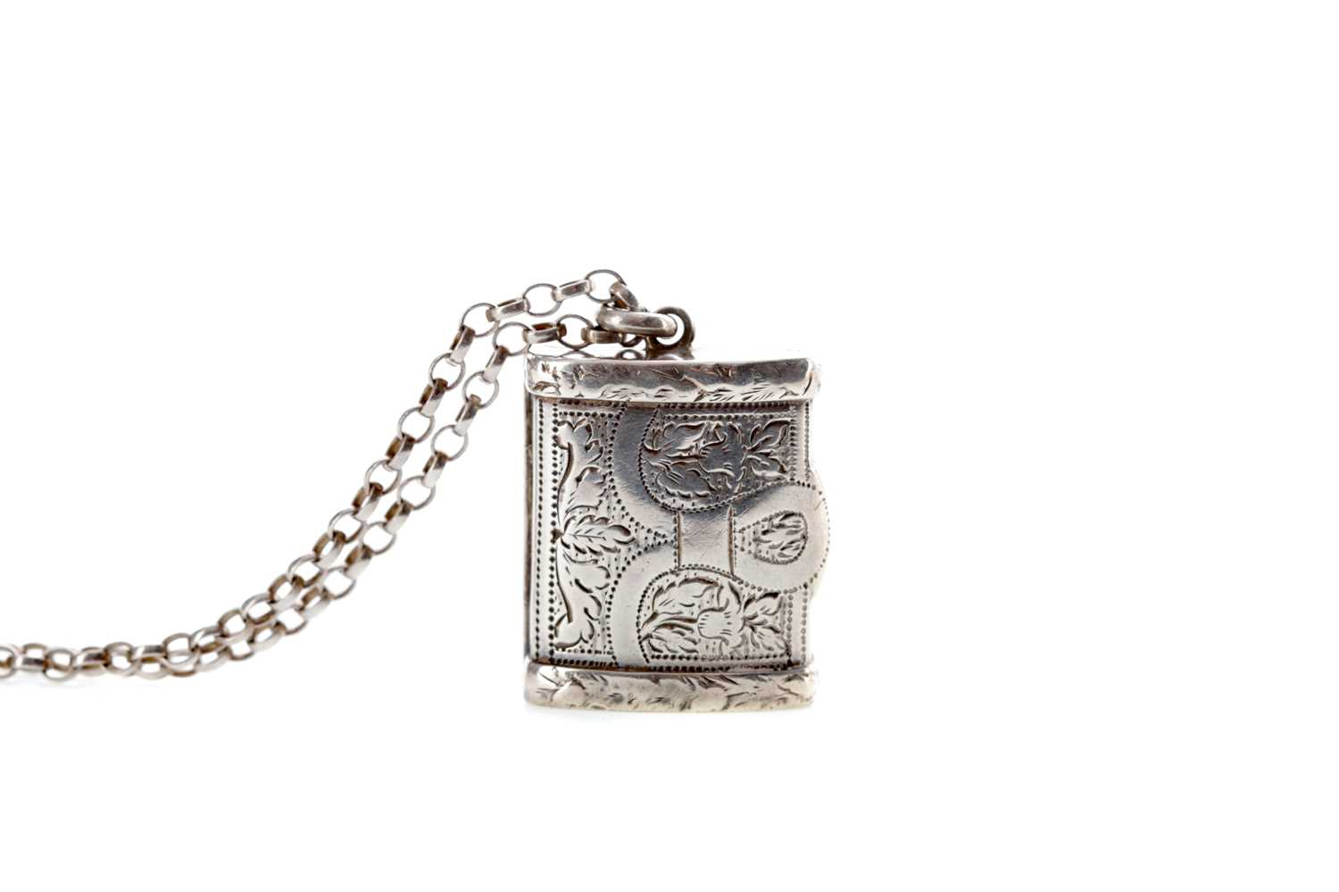Lot 504 - A GEORGE III SILVER VINAIGRETTE