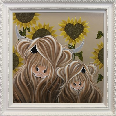 Lot 9 - SUNSHINE, AN OIL BY JENNIFER HOGWOOD