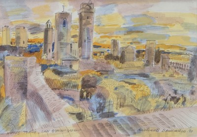 Lot 12 - NUOVE TORRE, SAN GIMINGANO, A MIXED MEDIA BY RICHARD DEMARCO
