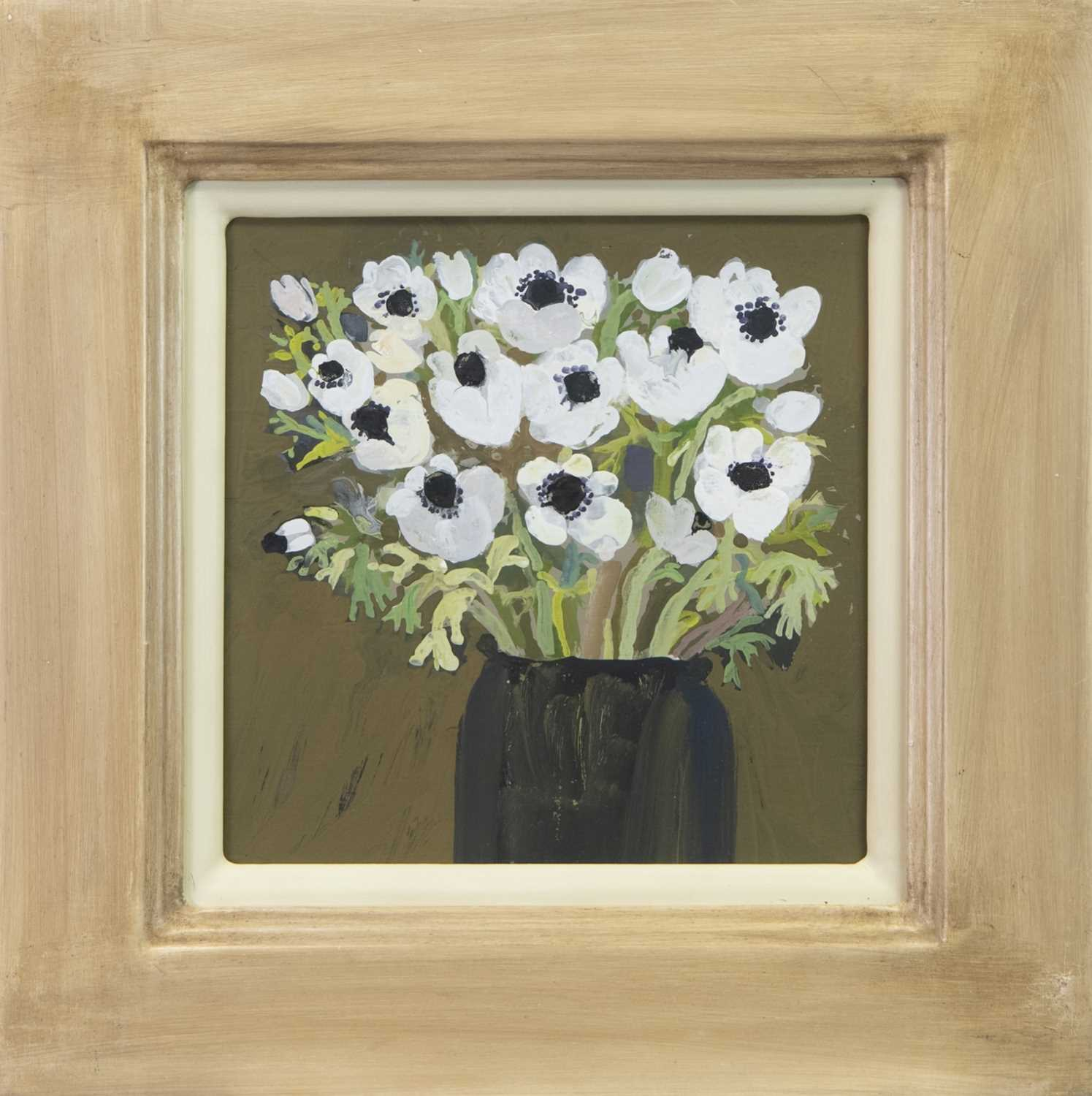 Lot 14 - WHITE ANEMONES, A GOUACHE BY CHRISTINE MCARTHUR