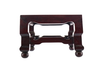 Lot 744 - AN EARLY 20TH CENTURY CHINESE HARDWOOD SQUARE STAND