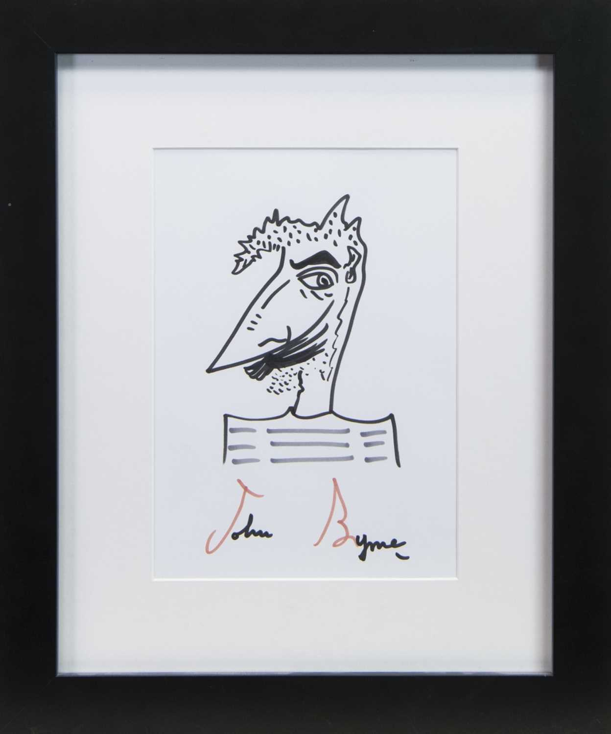 Lot 39 - UNTITLED DRAWING IN INK BY JOHN BYRNE