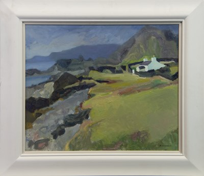 Lot 33 - EASDALE, TOWARDS MULL, AN OIL BY ALMA WOLFSON