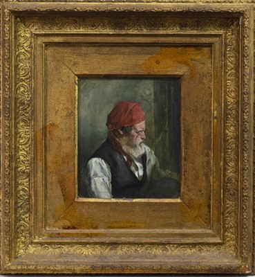 Lot 64 - 19TH CENTURY OIL STUDY OF A MAN
