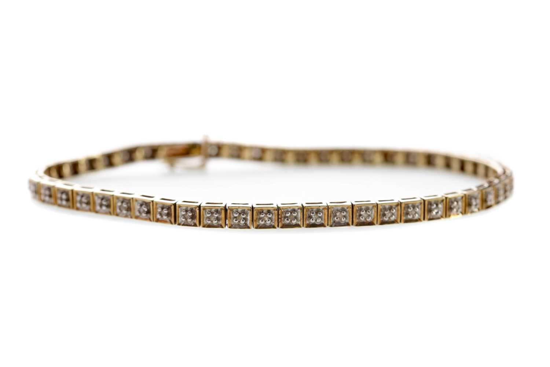 Lot 1359 - A DIAMOND BRACELET