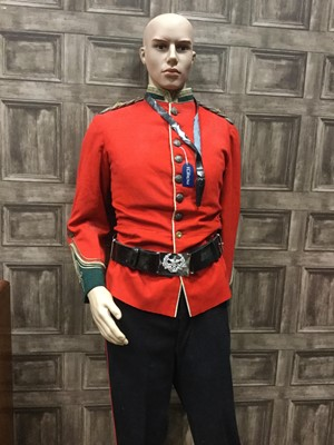 Lot 1651 - A MODERN MANNEQUIN IN MILITARY DRESS AND ANOTHER