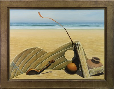 Lot 19 - CASTAWAY, AN OIL BY GORDON MITCHELL