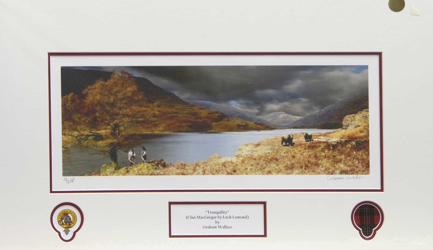 Lot 7 - TRANQUILITY, A PRINT BY GRAEME WALLACE