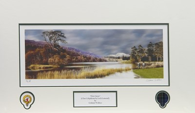 Lot 30 - FIRST SNOW, A PRINT BY GRAEME WALLACE