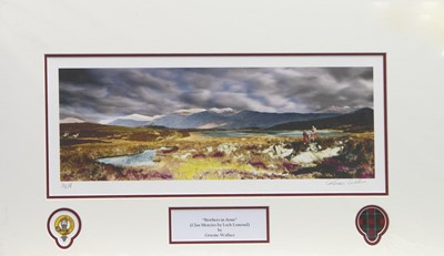 Lot 25 - BROTHERS IN ARMS, A PRINT BY GRAEME WALLACE