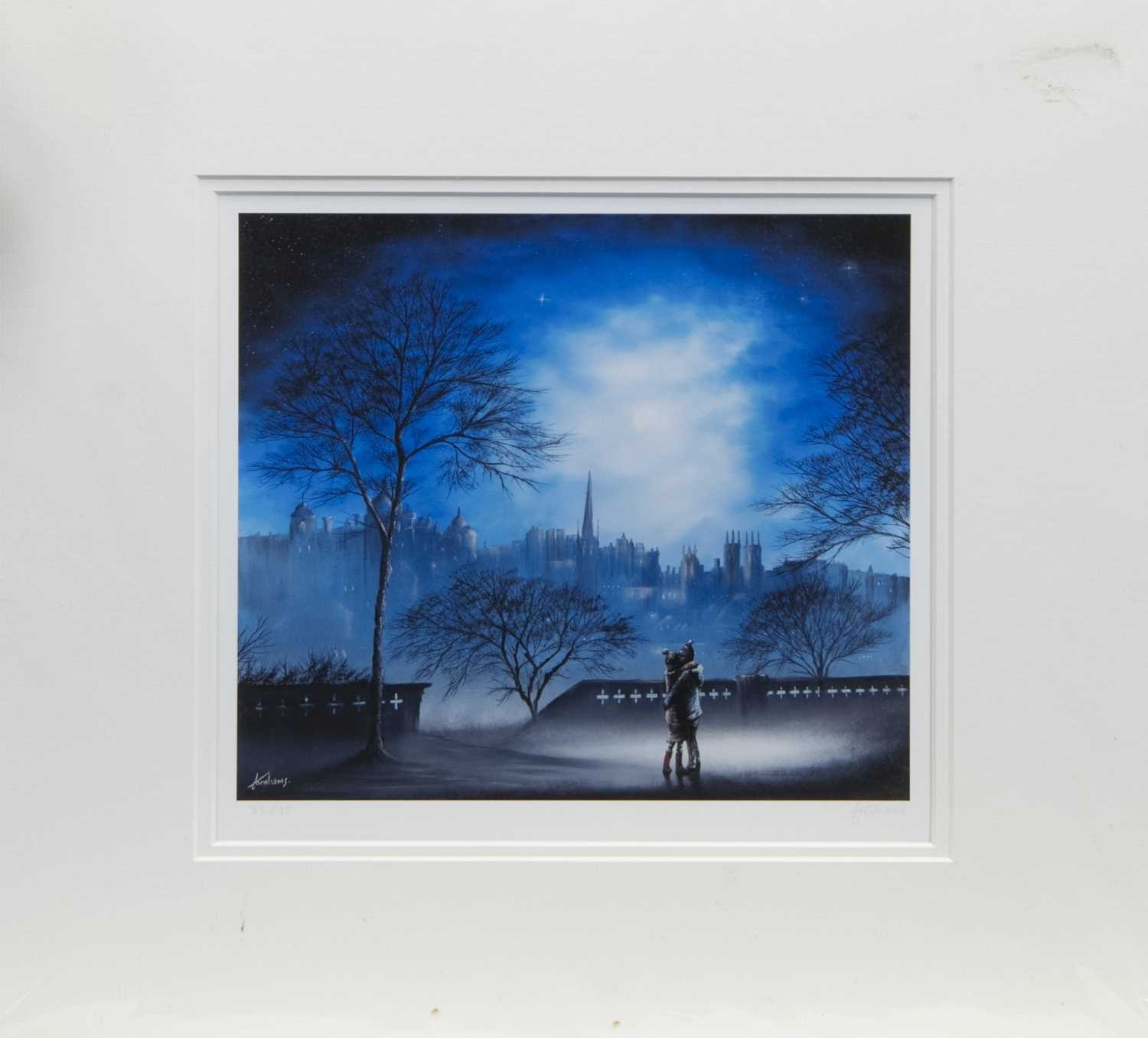 Lot 100 - EDINBURGH NIGHTS, A PRINT BY DANNY ABRAHAMS