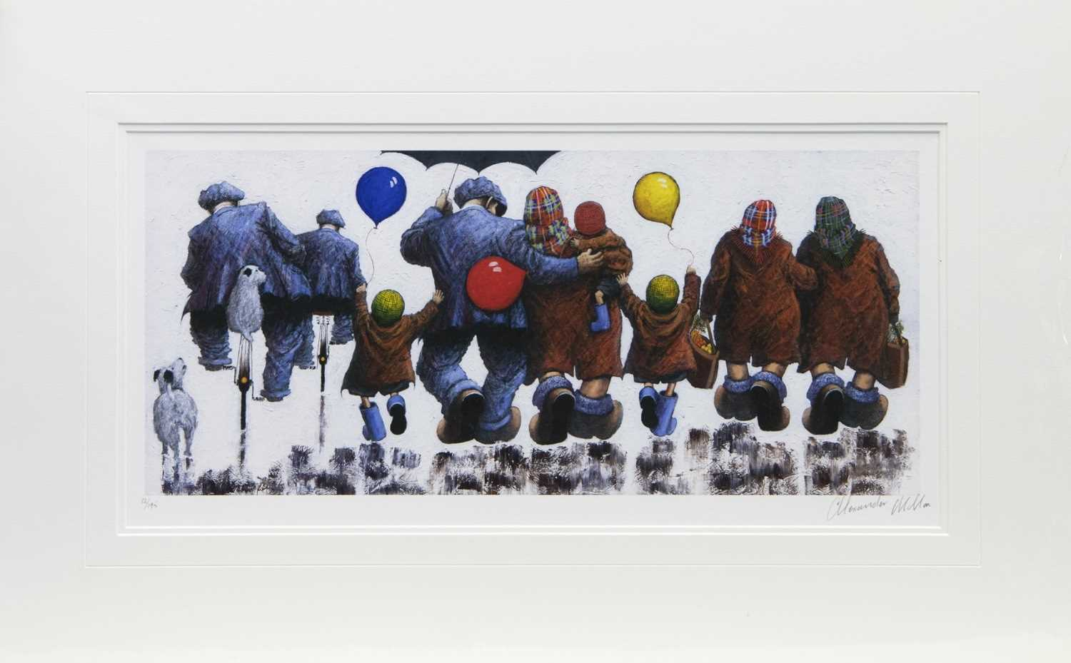 Lot 119 - MUMS, DADS, AUNTIES AND UNCLES, A PRINT BY ALEXANDER MILLAR