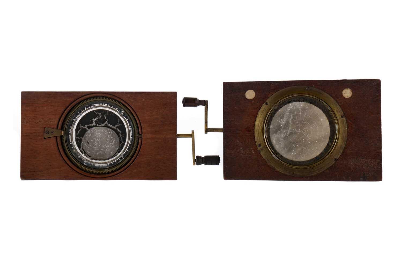 Lot 1657 - A LOT OF TWO MECHANICAL ASTRONOMICAL MAGIC LANTERN SLIDES