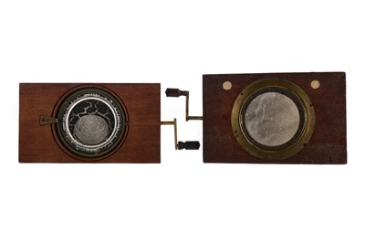 Lot 1657 - A LOT OF TWO MECHANICAL ASTRONOMICAL MAGIC LANTERN SLIDES