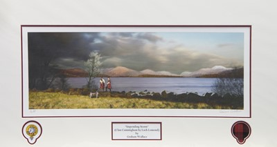 Lot 32 - IMPENDING STORM, A PRINT BY GRAEME WALLACE