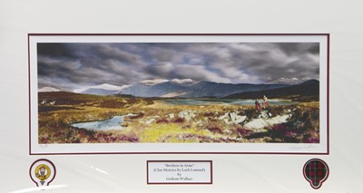 Lot 31 - BROTHERS IN ARMS, A PRINT BY GRAEME WALLACE