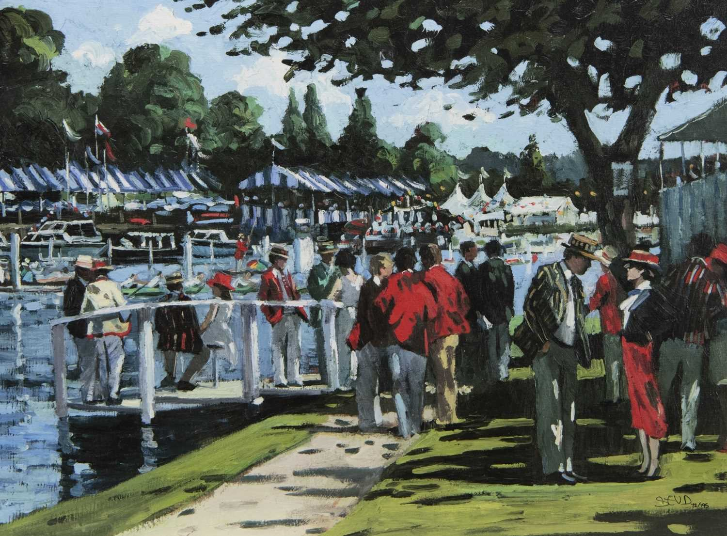 Lot 11 - ENGLISH ELEGANCE, A HAND EMBELLISHED CANVAS BY SHERREE VALENTINE DAINES
