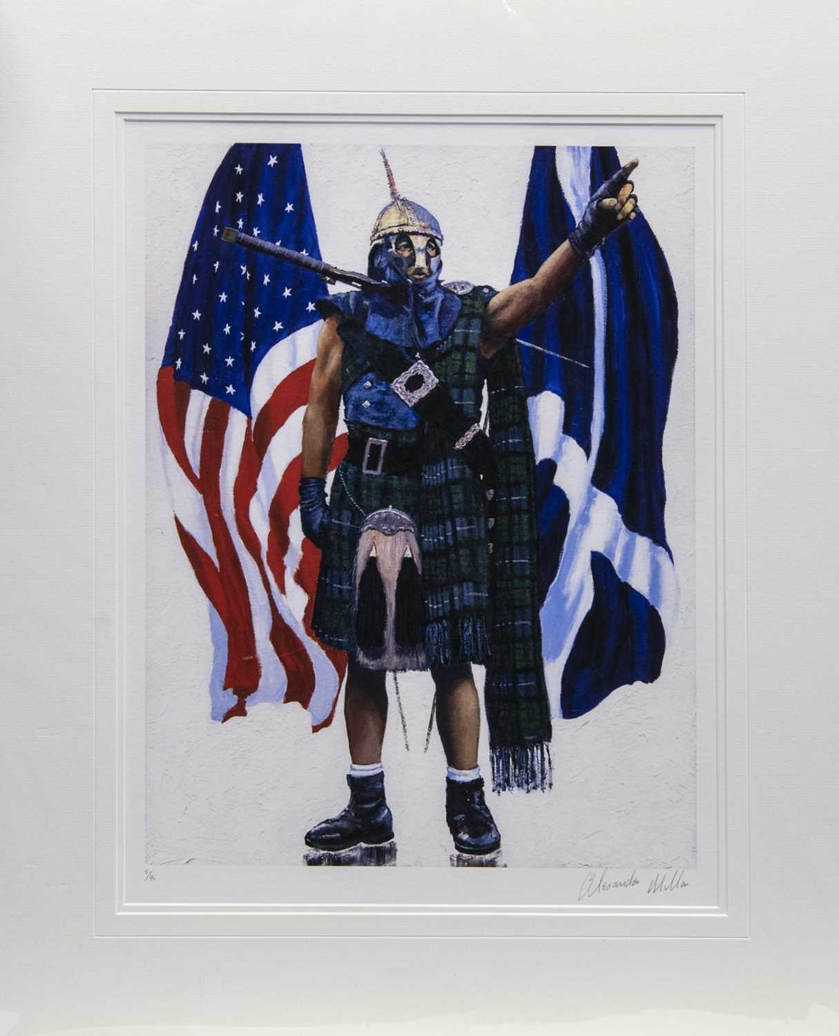 Lot 12 - OVER THE SEA, A GICLEE PRINT BY ALEXANDER MILLAR
