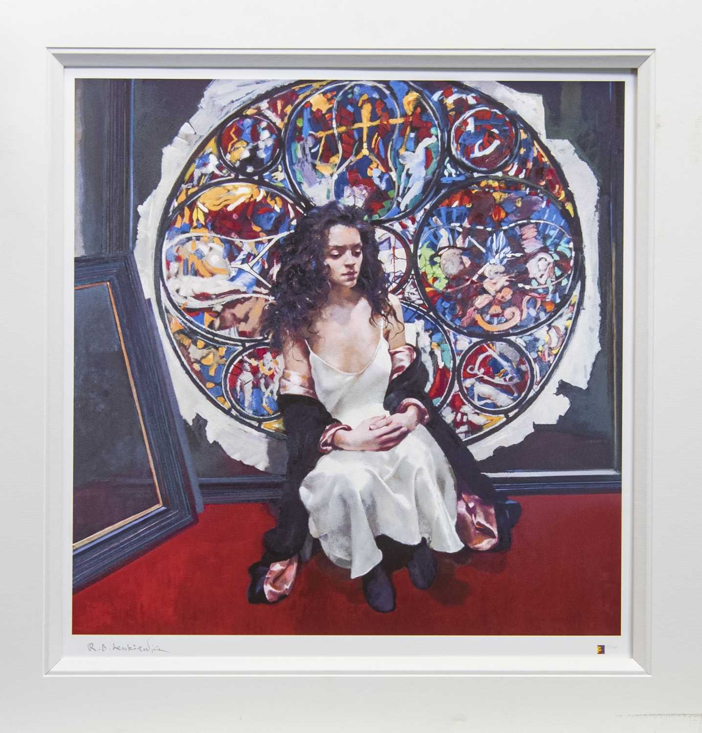 Lot 13 - SILK DRESS, AN ARTIST PROOF BY ROBERT OSCAR LENKIEWICZ