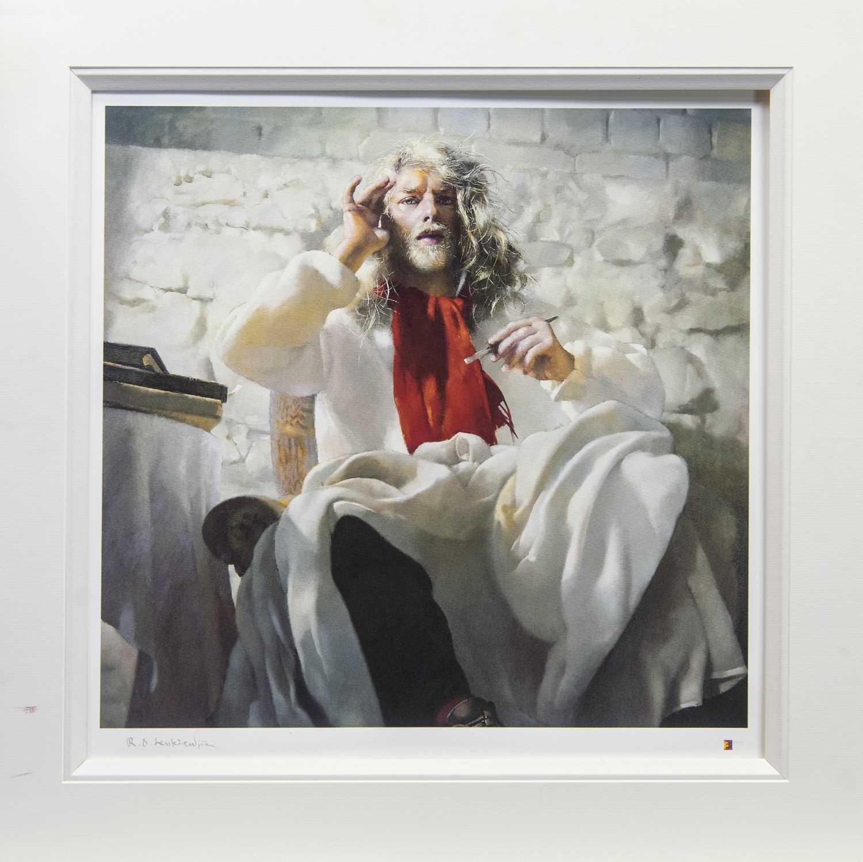 Lot 39 - ARTIST IN WHITE, AN ARTIST PROOF BY ROBERT OSCAR LENKIEWICZ