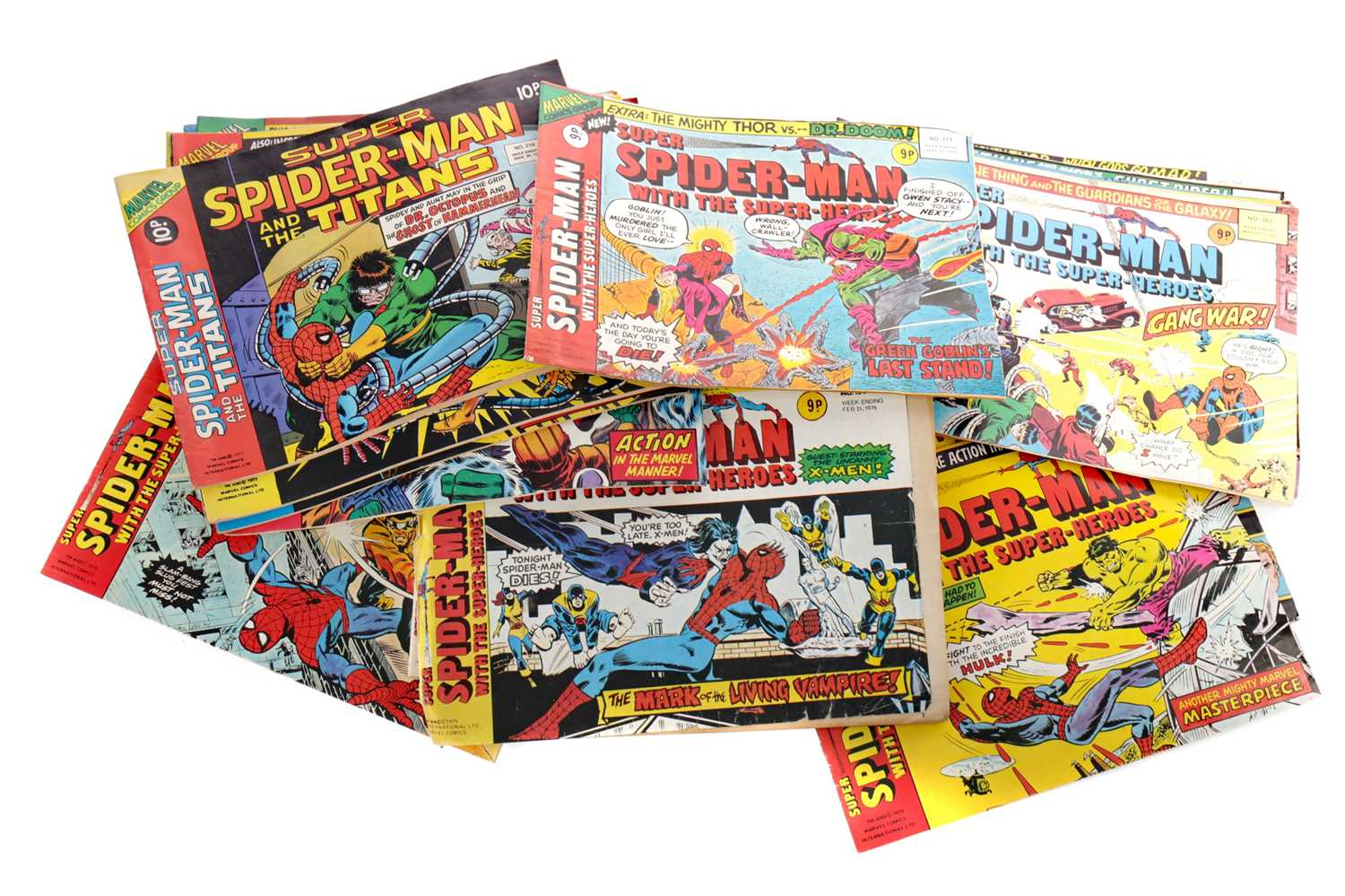 Lot 1662 - A COLLECTION OF VINTAGE COMIC BOOKS INCLUDING SPIDER MAN